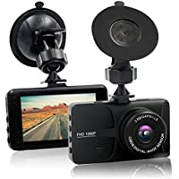 HappyHapi Dash Camera for Cars with Full HD 1080P, 170 Wide Angle Car On Dash Video, 3.0 TFT Display, G-Sensor, Night Vision, WDR,Parking Guard, Loop Recording Dashboard Camera Recorder