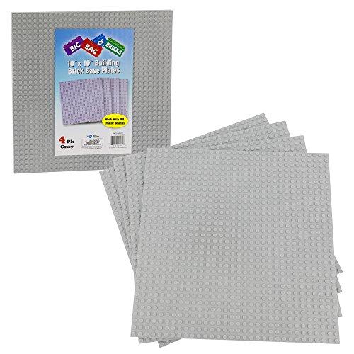 SCS Direct Brick Building Base Plates - Large 10