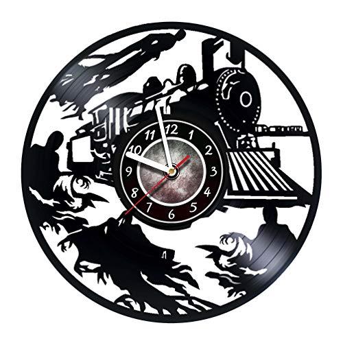 Cheap Iskra Shop Harry Potter – Vinyl Record Wall Clock – Hogwarts Express – Get unique kids room wall decor – Gift ideas for boys and girls, teens, friends – Unique Art Design of Magic Train