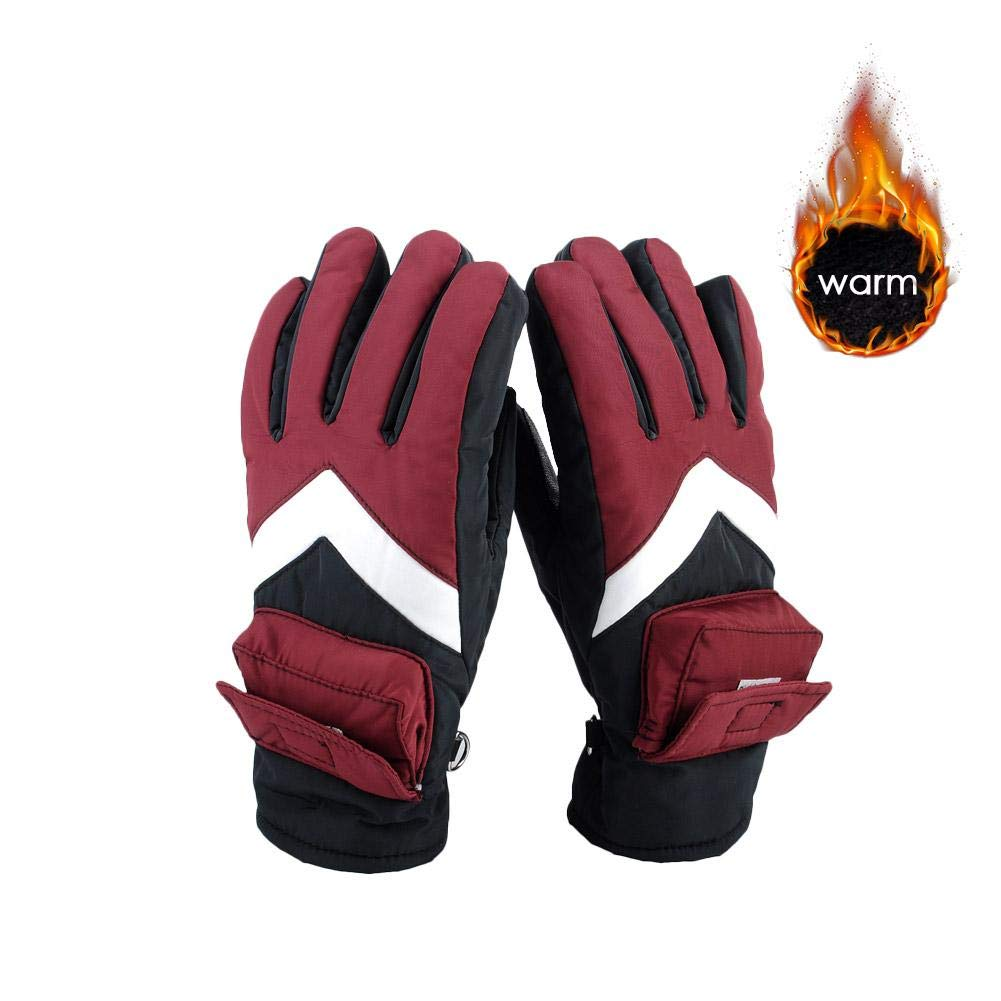 Rechargeable Electric Heated Gloves, Battery Powered Heating Gloves, Winter Warm Thermal Gloves Compatible Outdoor Recycling, Climbing, Hiking, Etc Ya-tube