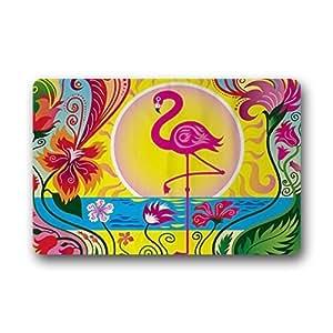 New Hot Wind Caliente Viento Novelty Diseño Personalizado Flamingo Interior/al Aire Libre Felpudo Lavable a máquina Alfombra de Piso/decoración de baño Alfombrillas