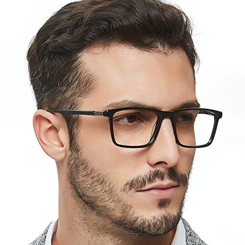 249714aa4c OCCI CHIARI Non-Prescription Eyewear Frame Clear Eyeglasses Men Optical  Glasses Blue Light Blocking