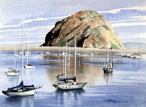 Morro Bay Art Print by Artist DJ Rogers