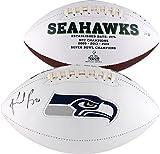 #9: Rashaad Penny Seattle Seahawks Autographed White Panel Football - Fanatics Authentic Certified - Autographed Footballs