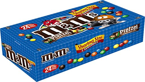 M&M'S Pretzel Chocolate Candy Sharing Size 2.83-Ounce Pouch 24-Count