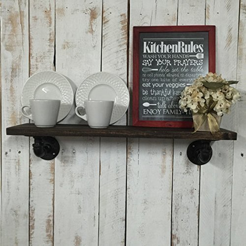 Industrial Kitchen Shelf, Kitchen Shelf, Rustic Kitchen Shelves (Sanded Shelving Unit)