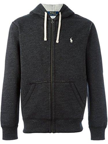 Polo Ralph Lauren Men's Cotton Blend Full Zip Fleece Hoodie, Black Marl Heather, - Polo Ralph Service Customer Lauren