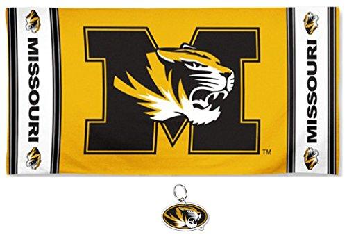 University of Missouri Tigers Beach Towel & Key Ring Gift Set