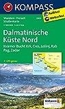 Dalmatinische Küste Nord: Wanderkarte. GPS-genau. 1:100000 (KOMPASS-Wanderkarten, Band 2901)