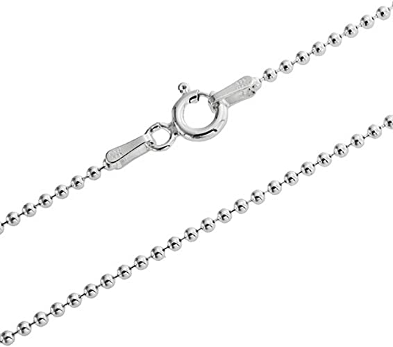 75 25 35 80 45 1mm thick solid sterling silver 925 Italian DIAMOND CUT BALL bead link style chain necklace chocker bracelet anklet 30 50 15 95 20 70 85 55 90 65 60 40 100cm