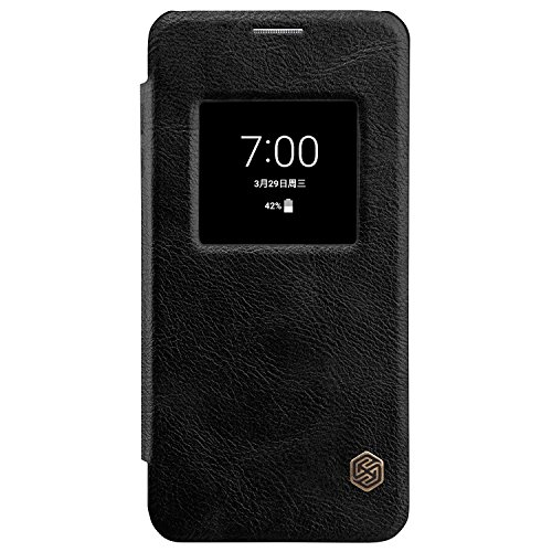 for LG G6 Window View Auto Wake/Sleep Case,Nillkin Premium PU Leather Slim Folio Flip Cover LG G6 Case,[Qin] Synthetic Leather Hard PC Inner Shell Hybrid Folio Case for LG G6 - Leather Case Nillkin