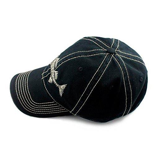 Akizon fishing baseball trucker cap with fish bones wide for Fishing baseball caps