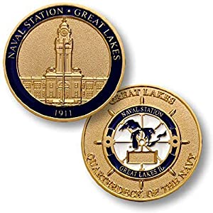 U.S. Navy Naval Station Great Lakes Challenge Coin by Armed Forces Depot