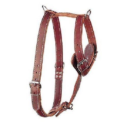 Leather Brothers 174DSM-BU Two-Ply Latigo Roading Dog Harness, Medium, Burgundy by OmniPet