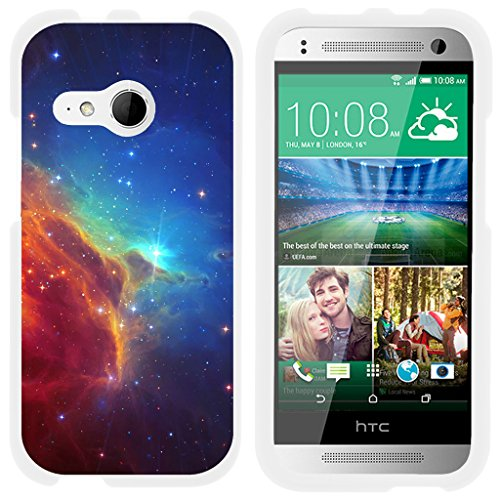 TurtleArmor | HTC One M8 Mini Case | One Mini 2 Case | One Remix Case [Slim Duo] Two Piece Hard Cover Slim Snap On Case on White - Colorful Nebula Galaxy (Cases Remix Verizon Htc)