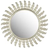 Safavieh Home Collection Inca Sun Mirror, Pewter