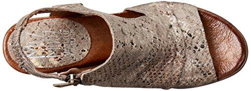 Miz Mooz Women's Michelle Leather Heeled Sandal Stone Snake fdWS5ma
