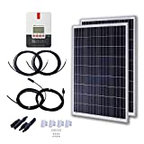 KOMAES 200 Watt 12 Volt Polycrystalline Solar Starter Kit with Inverter