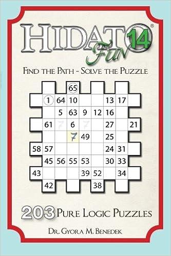 image regarding Hidato Printable identify Hidato enjoyment 14: 203 Refreshing Logic Puzzles (Amount of money 14) - Ebooks