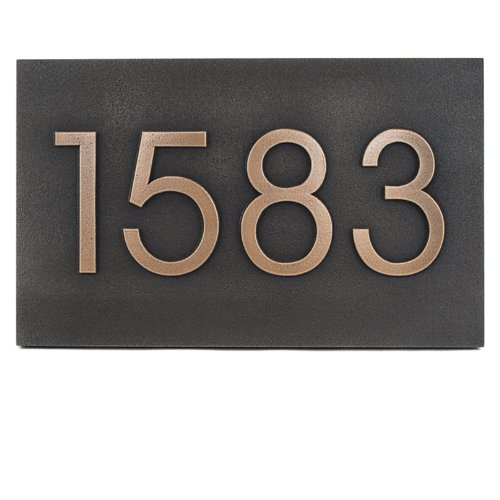 Modern Advantage Address Plaque 13x8 - Raised Bronze Metal Coated by Atlas Signs and Plaques