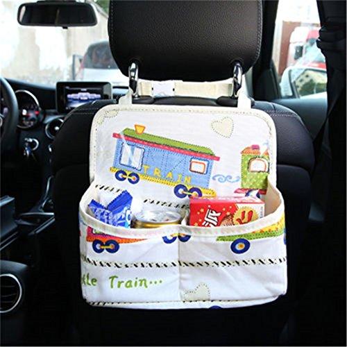 UNKE Multi-Pocket Travel Storage Pockets Bag Universal Design Seat Back Protectors Seat Saver,1# by UNKE