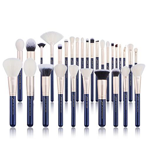 Jessup New 2018 Brush Set Make up Brushes Powder Brush Face Lip Make-up Brush Professional Beauty Brush Tools&Kits 30 Pcs Prussian Blue T470