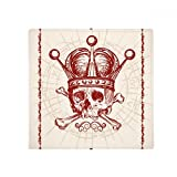 Clubs Red Crown Skeleton Poker Card Pattern Anti-slip Floor Pet Mat Square Home Kitchen Door 80cm Gift