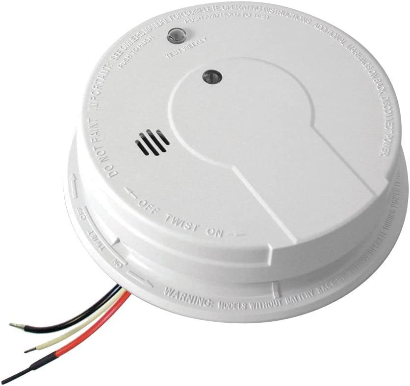 Kidde I12040 AC Hardwired Interconnect Smoke Alarm with Hush – 8 pack
