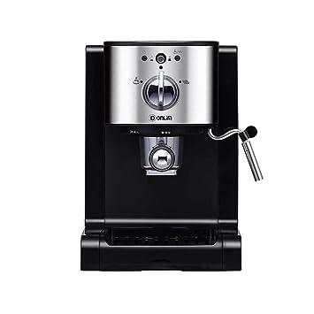 Máquina de café Inicio Cápsula italiana Semi-automática Full American Pump Presión Espuma de leche de vapor comercial: Amazon.es: Hogar