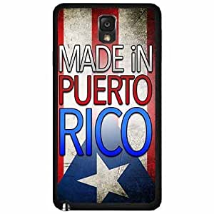 Made in Puerto Rico Plastic Phone Case Back Cover Samsung Galaxy Note III 3 N9002
