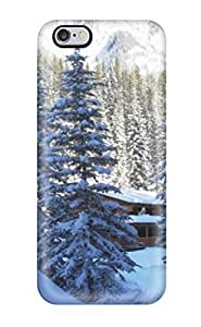 Iphone Cover Case - Drifts Of Snow And A Cabin In The Woods Protective Case Compatibel With Iphone 6 Plus