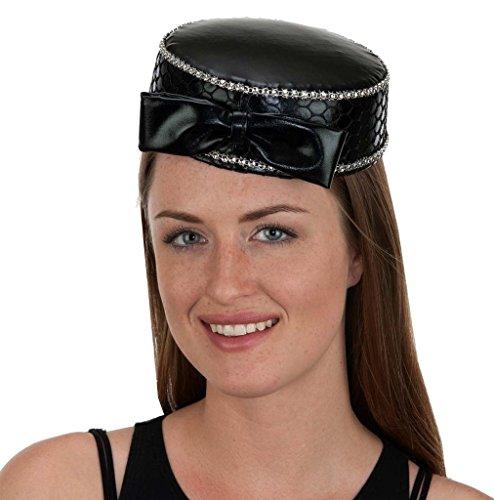 Pill Fancy Dress Costume (Pill Box Hat Black)