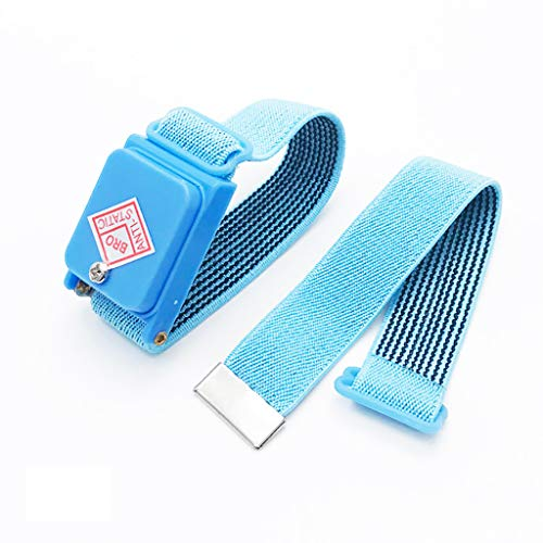 Anti Static Wrist Strap, Wireless Anti-Static Bracelet Strap ESD Prevent Shock Electricity Wrist Band Cable-Less Static Dissipative Strap for Electrician or IC/PLCC Worker ()
