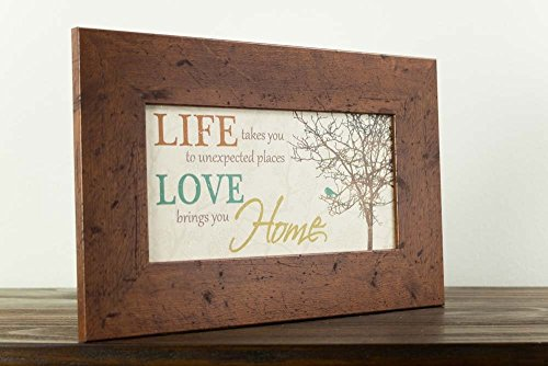 Life Takes You To Unexpected Places Love Brings You Home Framed Art Decor 10x16'' by Summer Snow (Image #2)