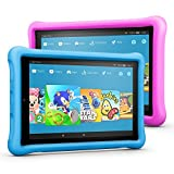 Fire HD 10 Kids Edition Tablet Variety Pack, 10.1' 1080p Full HD Display, 32 GB, (Blue/Pink) Kid-Proof Case