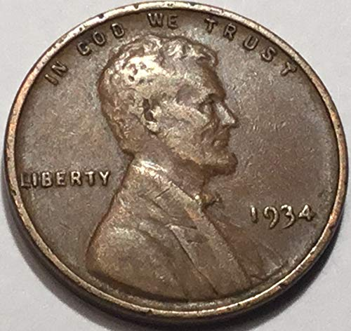 1934 Lincoln Wheat Cent Penny Very Fine