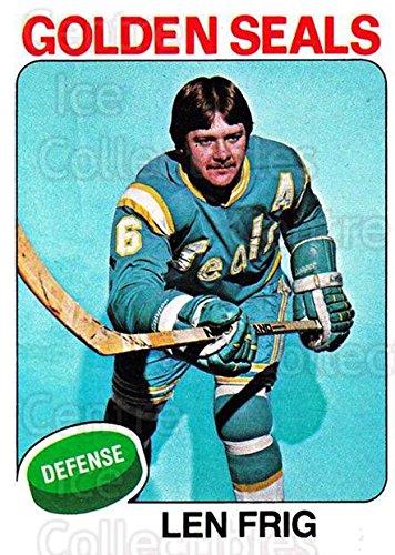 (CI) Len Frig Hockey Card 1975-76 Topps 174 Len Frig