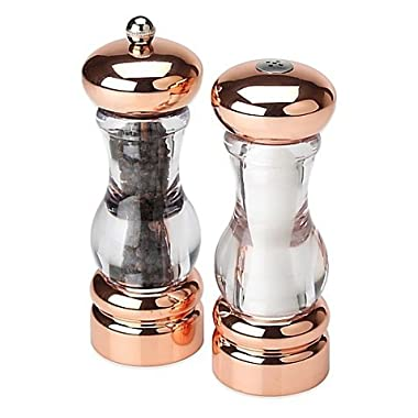 Olde Thompson Del Norte 7-Inch Peppermill and Salt Shaker Set, Copper