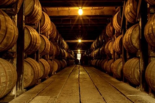 Poster Foundry Kentucky Bourbon Being Aged in Barrels Photo Print Stretched Canvas Wall Art 24x16 inch