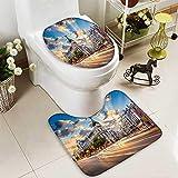Analisahome Non-slip Bath Toilet Mat Madrid Spain on Gran Via in Bathroom Accessories