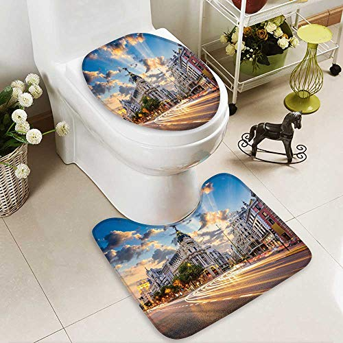 Analisahome Non-slip Bath Toilet Mat Madrid Spain on Gran Via in Bathroom Accessories by Analisahome