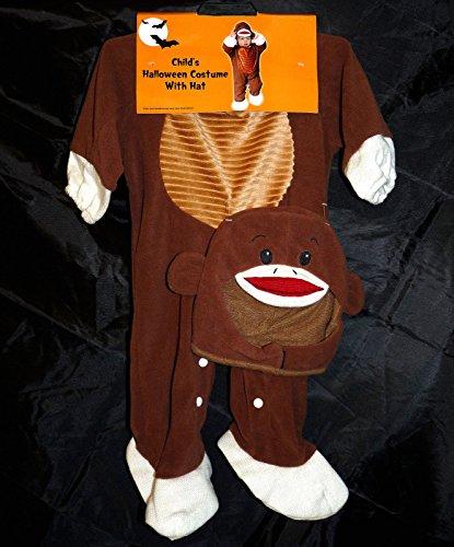 Sock Monkey ~ Toddler Costume 12 (Bananas In Pyjamas Fancy Dress Costumes)