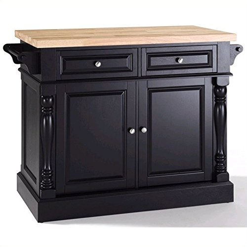 (Crosley Furniture Kitchen Island with Butcher Block Top -)