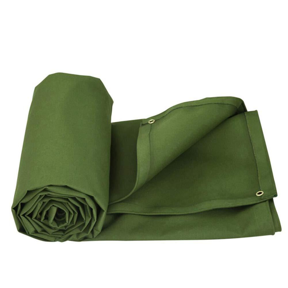 LIXIONG オーニング 日よけ 高強度 コットンキャンバス 厚い 耐寒性 UVプロテクト テント布 アウトドア, 6600g/m²、 アーミーグリーン、 10サイズ (色 : Green, サイズ さいず : 6X4m) 6X4m Green B07J3BRQXV