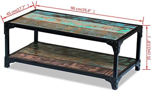 Verhandelbaar Tidyard Vintage industriële salontafel, vintage salontafel van massief hout, antiek, vintage salontafel, salontafel voor bank 90 x 45 x 35 cm  HyQQYN9