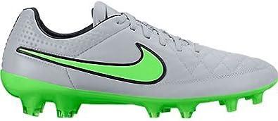 mezcla Reino Suavemente  Amazon.com: Nike Tiempo Legend V FG - Wolf Grey/Green Strike-Black - Silver  Storm 5: Shoes