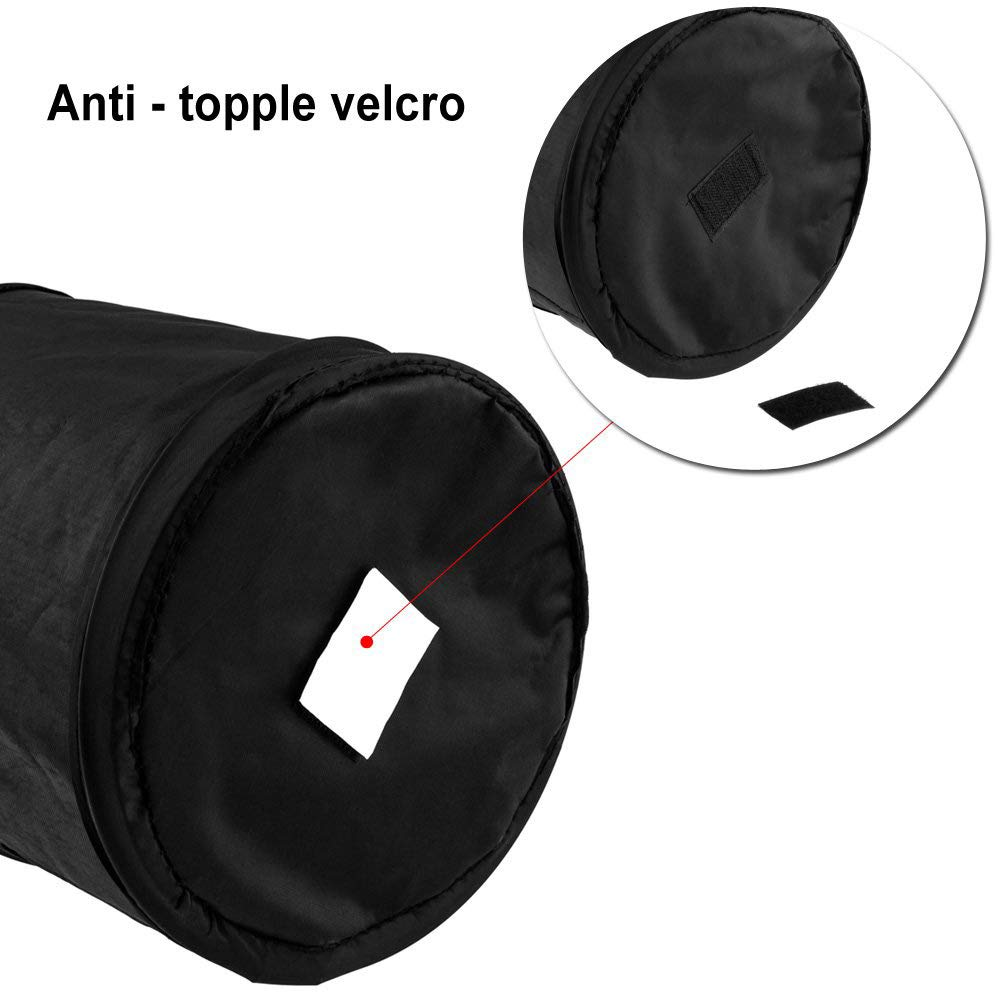 Portable Hanging Collapsible Garbage Bag-can Waterproof and Leakproof-Large Capacity Reusable for car Front seat-Black Everrich Car Trash can Multi-Functional Bucket Garbage Bag Folding Bag