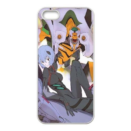 Ayanami Rei coque iPhone 4 4S Housse Blanc téléphone portable couverture de cas coque EBDOBCKCO11729