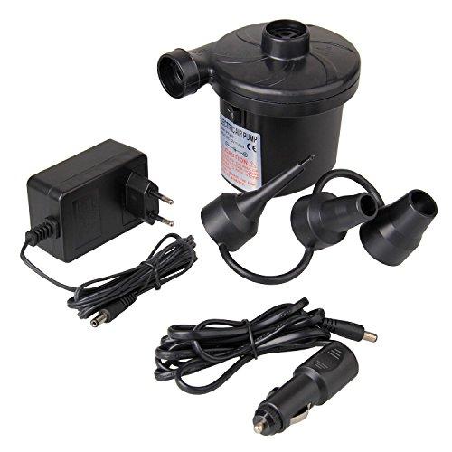 Elektrische Luftpumpen Elektropumpe Gebläsepumpe für Luftmatratzen, Schlauchboote, Gästebetten, aufblasbare Schwimmtiere Indoor oder Outdoor Camping - Automatisches und schnelles Auf- und Abpumpen,50W DC12V/AC230V