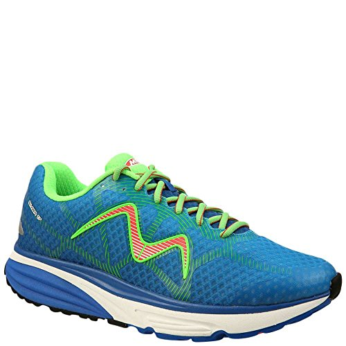 MBT Men's Simba 17 M Sneaker, Blue/Green/Orange, 9.5 Medium US Mbt Fitness Shoes